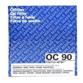 MAHLE ORIGINAL Ölfilter OC 90