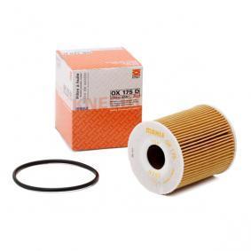 MAHLE ORIGINAL Oljefilter Filterinsats OX175DECO, 78486011 Expertkunskap