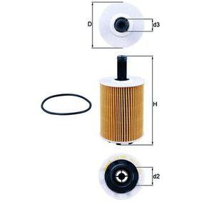 MAHLE ORIGINAL Маслен филтър OX 188D