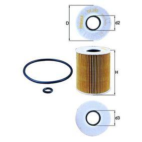Filtro de aire MAHLE ORIGINAL (OX 203D) para MAZDA 3 precios