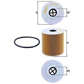 Sistema de ventilación del cárter (OX 339/2D) fabricante MAHLE ORIGINAL para PEUGEOT 407 (6D_) año de fabricación 05/2006, 170 CV Tienda online