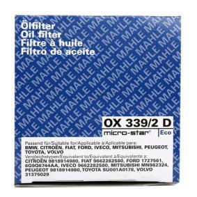 MAHLE ORIGINAL Olajszűrő OX 339/2D