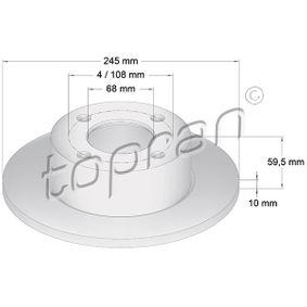 TOPRAN Gummipuffer 103 702 für AUDI 80 2.0 E 16V 140 PS kaufen