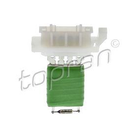 112 217 Odpor vnitřního ventilátoru TOPRAN pro SKODA OCTAVIA 1.6 TDI 105 HP za nízké ceny