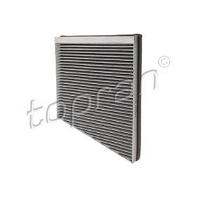 Filter, Innenraumluft TOPRAN Art.No - 400 211 OEM: A2118300018 für MERCEDES-BENZ, SMART, MAYBACH kaufen