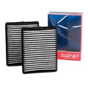 Filter, Innenraumluft TOPRAN Art.No - 500 218 OEM: 64119070073 für BMW, AUDI, MAZDA, MINI, ALPINA kaufen