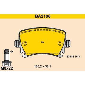 Barum Bremsbelagsatz, Scheibenbremse (BA2196) niedriger Preis