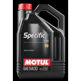 MOTUL двигателно масло SPECIFIC, 0720, 5W-30, 5литър 59010, ACEAC4 експертни познания