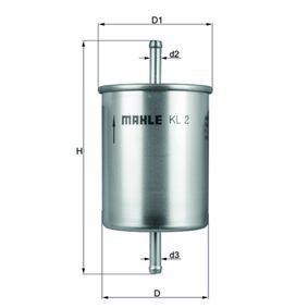 MAHLE ORIGINAL Kraftstofffilter (KL 2) niedriger Preis