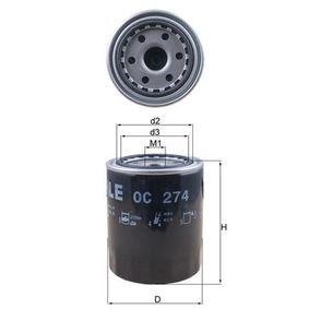 MAHLE ORIGINAL Filtro de aceite motor (OC 274)