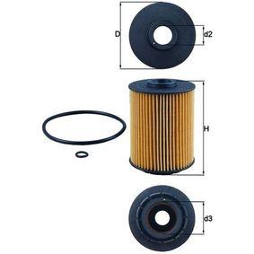 MAHLE ORIGINAL Peças: Filtro de óleo OX 356D
