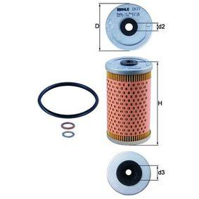 MAHLE ORIGINAL Recambios Filtro de aceite OX 33D