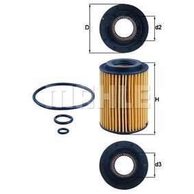 Oil filter MAHLE ORIGINAL (OX 347D) for HONDA CIVIC Prices