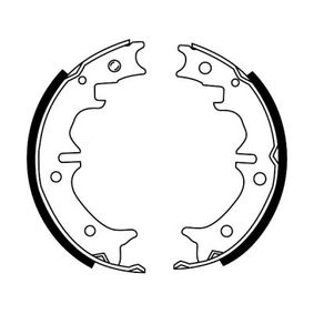 ABE Brake Shoe Set, parking brake Rear Axle, 170mm
