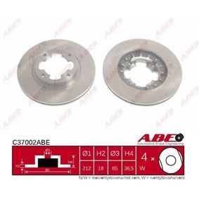 ABE Brake Lining/ Shoe C37002ABE for SUBARU VANILLE Bus 1.2 4WD (E12, KJ8) 52 PS buy