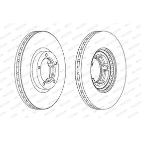 Bremsscheibe FERODO Art.No - DDF848 OEM: 5029815 für FORD, FORD ASIA / OCEANIA kaufen