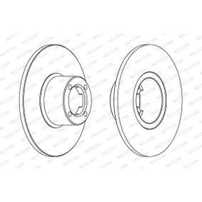 Bremsscheibe FERODO Art.No - DDF286 OEM: GBD806 für ROVER, INNOCENTI kaufen