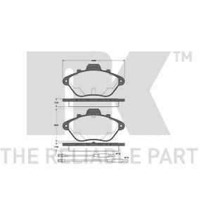 NK Kit pastiglie freno, Freno a disco 221922