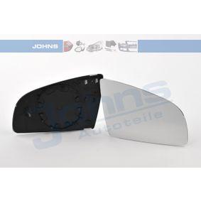JOHNS 13 10 38-80 Spiegelglas, Außenspiegel OEM - 8E0857536C AUDI, SEAT, SKODA, VAG, MANN-FILTER, JP GROUP günstig