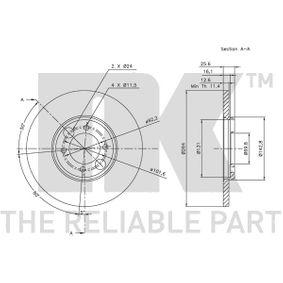 NK Bremsscheibe C46113 für JAGUAR, DAIMLER bestellen