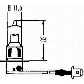Крушка с нагреваема жичка, фар за дълги светлини 8GH 002 090-481 онлайн магазин