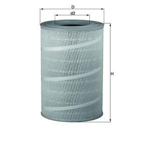 MAHLE ORIGINAL Luftfilter Filtereinsatz LX 714 in Original Qualität