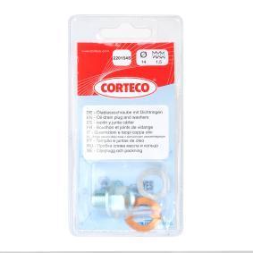 CORTECO Болтова пробка, маслен картер 220154S