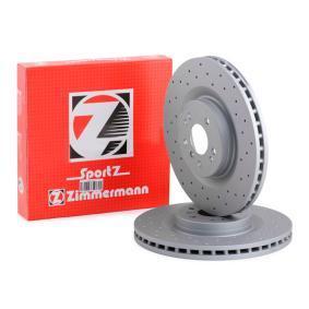 M-класа (W164) ZIMMERMANN Комплект спирачни дискове 400.3649.52