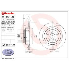 Bremsscheibe BREMBO Art.No - 09.B041.10 OEM: 26700AE030 für SUBARU, BEDFORD kaufen