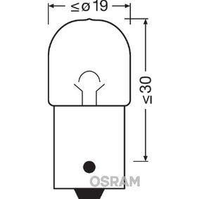 Крушка с нагреваема жичка, светлини на рег. номер (5637TSP) от OSRAM купете