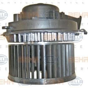 HELLA Ventilador habitáculo para vehículos con climatizador automático, para vehículos sin sistema de bus CAN 8EW 009 159-581 en calidad original