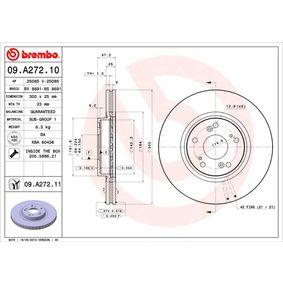 Filtro de aire BREMBO (09.A272.11) para HONDA ACCORD precios