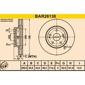 Correa de servicio BAR26138 Barum