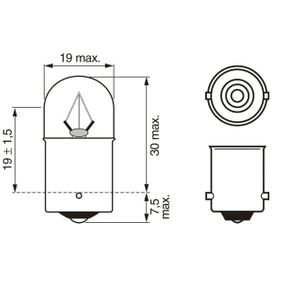 BOSCH HONDA CR-V Iluminación del panel de instrumentos (1 987 302 704)