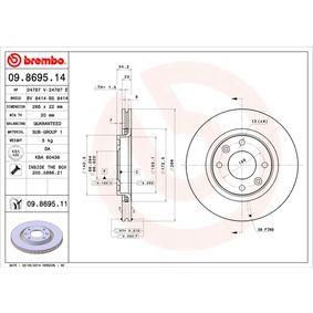 BREMBO 09.8695.11 Online-Shop