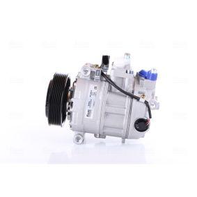 Kompressor, Klimaanlage NISSENS Art.No - 89091 OEM: 3D0820803T für VW, AUDI, SEAT, SKODA, PORSCHE kaufen