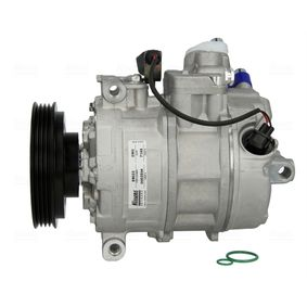 Compresor, aire acondicionado NISSENS Art.No - 89023 OEM: 8E0260805AH para VOLKSWAGEN, SEAT, AUDI, VOLVO, SKODA obtener