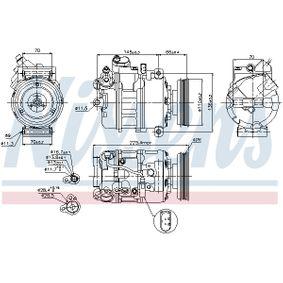 NISSENS Compresor, aire acondicionado (89023) a un precio bajo