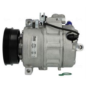Compresor, aire acondicionado NISSENS Art.No - 89073 OEM: 8E0260805AH para VOLKSWAGEN, SEAT, AUDI, VOLVO, SKODA obtener