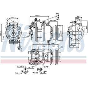 NISSENS Compresor, aire acondicionado (89073) a un precio bajo