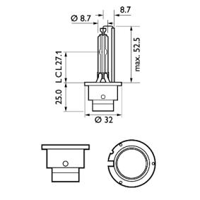 PHILIPS Крушка с нагреваема жичка, фар за дълги светлини 85122VIC1