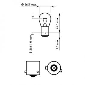 12088CP Крушка с нагреваема жичка, стоп светлини / габарити от PHILIPS качествени части