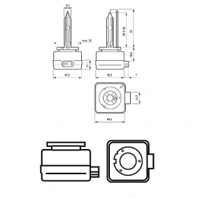 85415VIC1 Glühlampe, Fernscheinwerfer von PHILIPS Qualitäts Ersatzteile