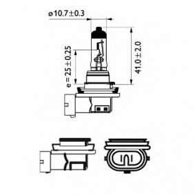 AUDI A4 Avant (8E5, B6) PHILIPS Nebelscheinwerferglühlampe 12362BVUB1 bestellen