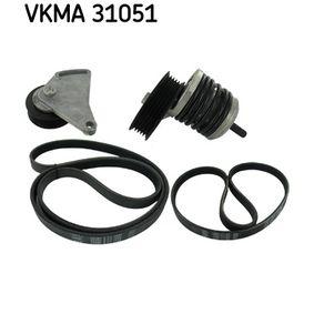 Keilrippenriemensatz SKF Art.No - VKMA 31051 OEM: 028145278J für VW, AUDI, SKODA, SEAT kaufen