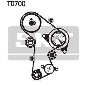 Wasserpumpe + Zahnriemensatz SKF Art.No - VKMC 01269 OEM: 03L109244 für VW, AUDI, SKODA, SEAT kaufen