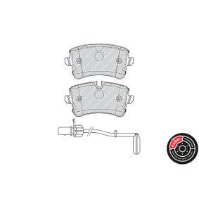 FERODO Kit de plaquettes de frein, frein à disque 4H0698451A pour VOLKSWAGEN, AUDI, SEAT, SKODA, PORSCHE acheter