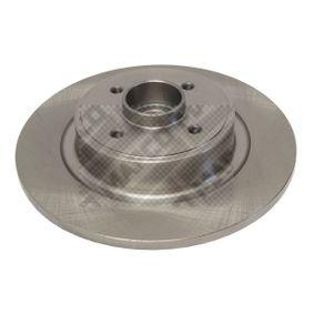 MAPCO Disco de travão Eixo traseiro, Ø: 274mm, Cheio 15140 de qualidade original
