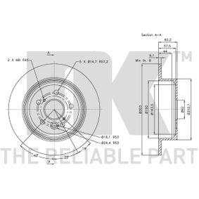 RAV 4 II (CLA2_, XA2_, ZCA2_, ACA2_) NK Brake disc set 314574