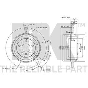 A1644231312 за MERCEDES-BENZ, DAIMLER, Спирачен диск NK (313394) Онлайн магазин
